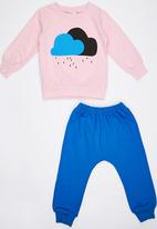 POP CANDY - Cloudy Track Top and Pant Pale Pink