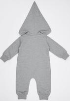 POP CANDY - Elephant Bodysuit With Hoody Grey