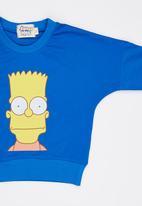 POP CANDY - Bart  Simpson Tee Mid Blue