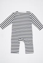 POP CANDY - Black  Stripe  Bodysuit Black and White