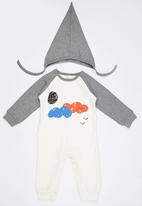 POP CANDY - Cloudy  Bodysuit With Beanie Grey