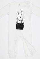 POP CANDY - Bunny  Bodysuit With Beanie White
