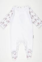 Poogy Bear - Envelope Babygrow Pale Pink