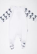 Poogy Bear - Envelope Babygrow Navy