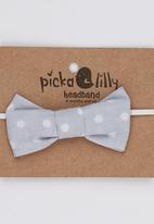Pickalilly - Bow Headband Grey