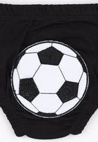 Baby Corner - Happy Pants  Football Black and White