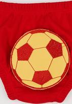 Baby Corner - Happy Pants  Football Red