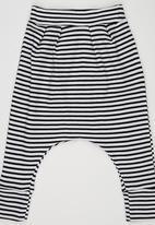 Baby Corner - StripedHarem Pants Black and White