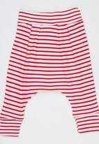 Baby Corner - Striped Harem Pants Red