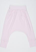 Baby Corner - Striped Harem Pants Pale Pink