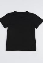 POP CANDY - Short Sleeve Henley Tee Black