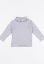 POP CANDY - Long Sleeve Turtle Neck Grey