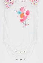 POP CANDY - 2 Piece Balloon  Romper Short Set Pale Pink
