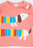 POP CANDY - Crew Neck Long Sleeve Doggie Tee Pale Pink