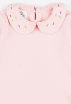 POP CANDY - Collar Long Sleeve Tee Pale Pink