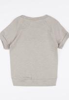 POP CANDY - 7 Raglan Sleeve Tee Grey