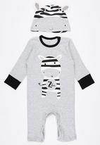 POP CANDY - 2 Piece Zebra   Set Grey