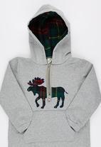 POP CANDY - Reindeer Hooded Jumper Grey