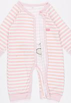 POP CANDY - Pink Stripe  Jumper Pale Pink