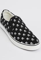Brave Soul - Skate Skull Sneakers Black
