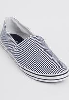Brave Soul - Stripe Loafers Navy