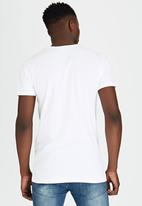 Brave Soul - Eclipse Crew Neck T-Shirt with Sleeve Pocket White