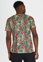 Brave Soul - Crew Neck Printed T-Shirt Green