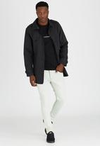 Brave Soul - Eclipse Crew Neck T-Shirt with Zip Detail Black