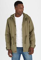 Brave Soul - Hooded Parka Jacket Khaki Green