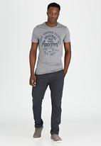Brave Soul - Grindle Crew Neck Printed T-Shirt Pale Grey
