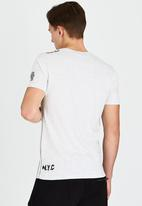 Brave Soul - Crew Neck Printed T-Shirt Grey
