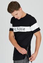 Brave Soul - Eclipse Longer Length T-Shirt Black