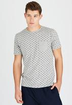 Brave Soul - Crew Neck Spotted T-Shirt Grey