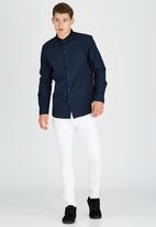 Brave Soul - Long Sleeve Shirt Navy