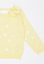 Luke & Lola - Jersey with Bow Yellow