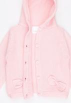 Luke & Lola - Hooded Cardigan Mid Pink