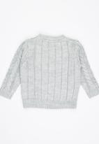 Luke & Lola - Cable Knit Jersey Grey