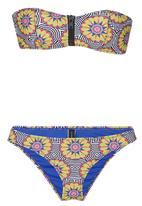 London Hub - Zip Detail Bikini Set Multi-colour