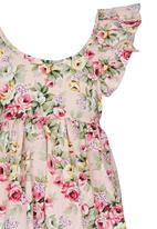 POP CANDY - Pink Floral Dress Mid Pink