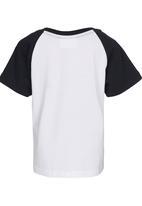 See-Saw - Raglan T-shirt Black and White