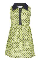 See-Saw - Floral Dress with Collar Green