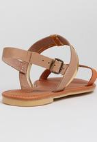 edit - Leather Slingback Sandals Orange
