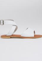 edit - Leather Ankle-strap Sandals White