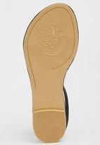 edit - Leather Ankle-strap Sandals Black