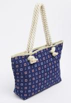 Joy Collectables - Nautical Beach Bag Navy