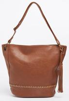Moda Scapa - Shoulder Bag with Tassel Detail Tan