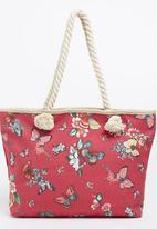 Joy Collectables - Floral Beach Bag Mid Pink