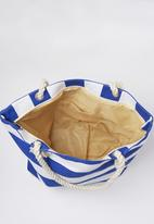 Joy Collectables - Striped Beach Bag Blue and White