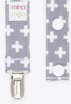 Mina Moo - Grey Swiss Cross Dummy Clip Multi-colour