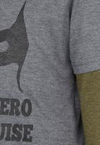 See-Saw - Printed Twofer T-Shirt Dark Grey